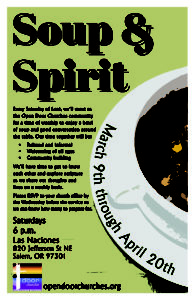 Saturday Soup & Spirit Lenten Worship @ Las Naciones United Methodist Church | Salem | Oregon | United States